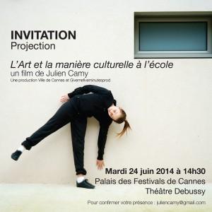 INVITATION Projection L'Art et la Manière culturelleBD