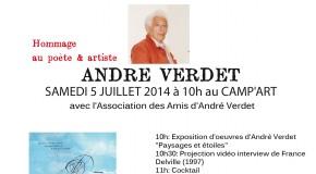INVITATION JOURNEE HOMMAGE A ANDRE VERDET – LIKE ART FESTIVAL 2014 – MANDELIEU – 5/07