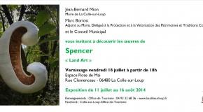 INVITATION VERNISSAGE EXPOSITION «LAND ART» DE SPENCER – 18/07