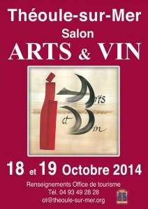 Affiche ARTS ET VIN 2014