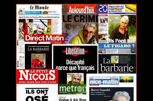 L'ASSASSINAT D'HERVE GOURDEL : LES JOURNALISTES ONT-ILS DEPASSE LES BORNES ?