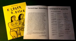 EXPOSITION EXCEPTIONNELLE ROLAND BRICE / FERNAND LEGER PARIS GALERIE MAKASSAR – JUSQU'AU 19/11