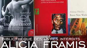 VERNISSAGE EXPOSITION ALICIA FRAMIS BIBLIOTHÈQUE DES LIVRES INTERDITS – 5/07