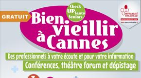 CP MUTUALITÉ FRANÇAISE PACA – FORUM Bien vieillir à Cannes – Check UP santé seniors – 18/11 de 10 à 17h.