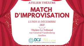 IP DCF 06 : Soirée DCF de Noël -> atelier théâtre– 11/12/17 à 18h – Antibes