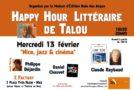 """Happy Hour Littéraire de Talou «Nice jazz et cinéma"""" 13/02 -C FACTORY – Nice"""